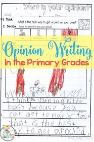 How to get students excited about opinion Writing for kindergarten and first grade!