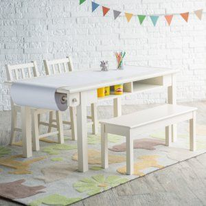 Classic Playtime Vanilla Deluxe Activity Table with Free Paper Roll - Young artists, budding business persons, and growing kids of all kinds will love the real-furniture feeling of the Classic Playtime Vanilla Deluxe Act...