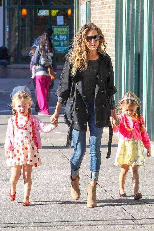 Sarah Jessica Parker on another sunny trip to school