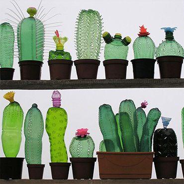 Recycled pet plastic bottle plant sculptures by veronika richterov imagination art - Plastic bottles recycling ideas boundless imagination ...