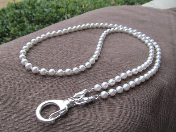Hey, I found this really awesome Etsy listing at https://www.etsy.com/listing/172260413/swarovski-pearl-beaded-lanyard-white