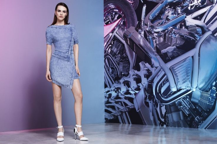 Jean-Pierre Braganza x River Island Design Forum acid wash asymmetric dress