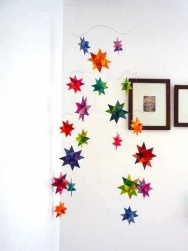 folded paper star mobile. for when i have looooots of time.