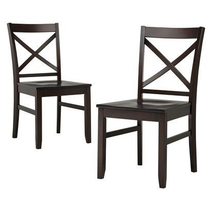TargetDining Chairs Sets, Dark Tobacco, Chairs Dark, Dining Room, Carey Dining, Dining Chair Set, 2Pk Dining, Dining Table'S, Target Chairs