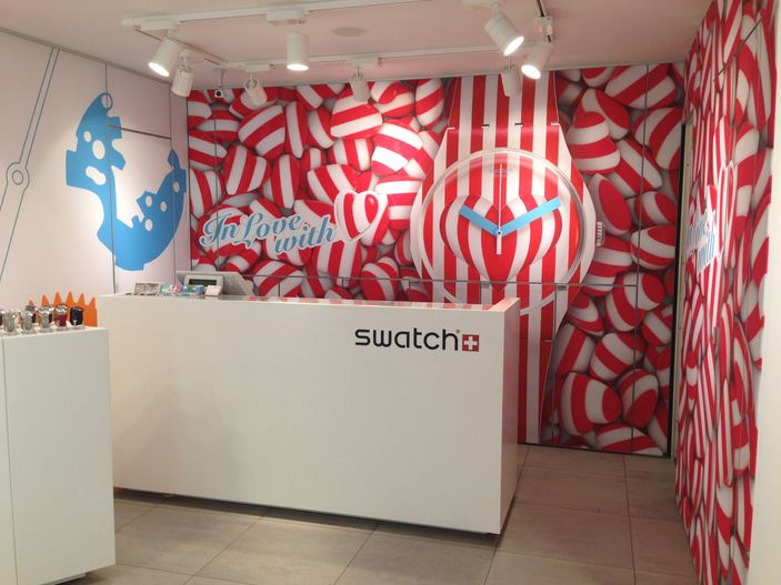 "SWATCH,Berlin,Germany, ""IN LOVE WITH"", photo by TwoVisual UK, pinned by Ton van der Veer"
