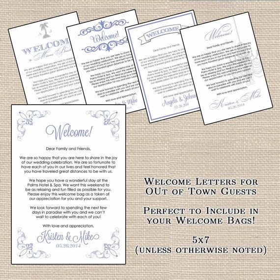 ... Welcome Letters on Pinterest Wedding welcome bags, Wedding gift bags