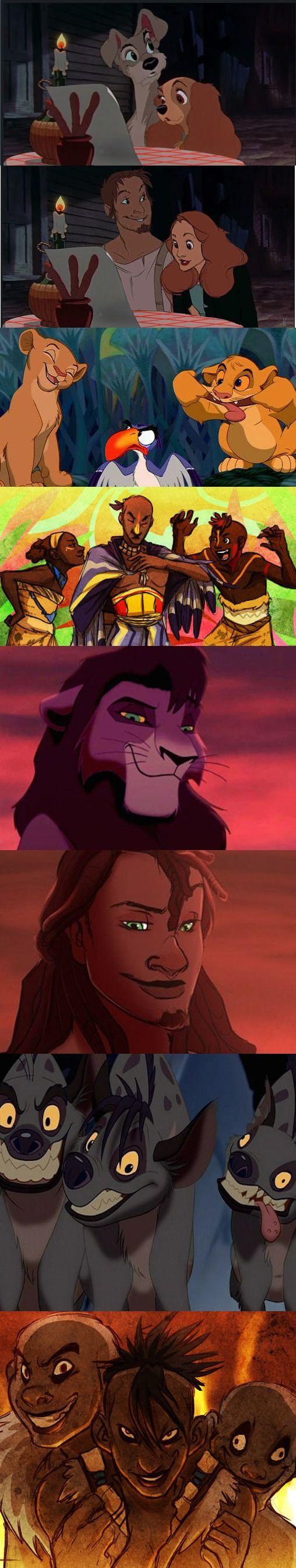 Disney animals into humans (Part 2)