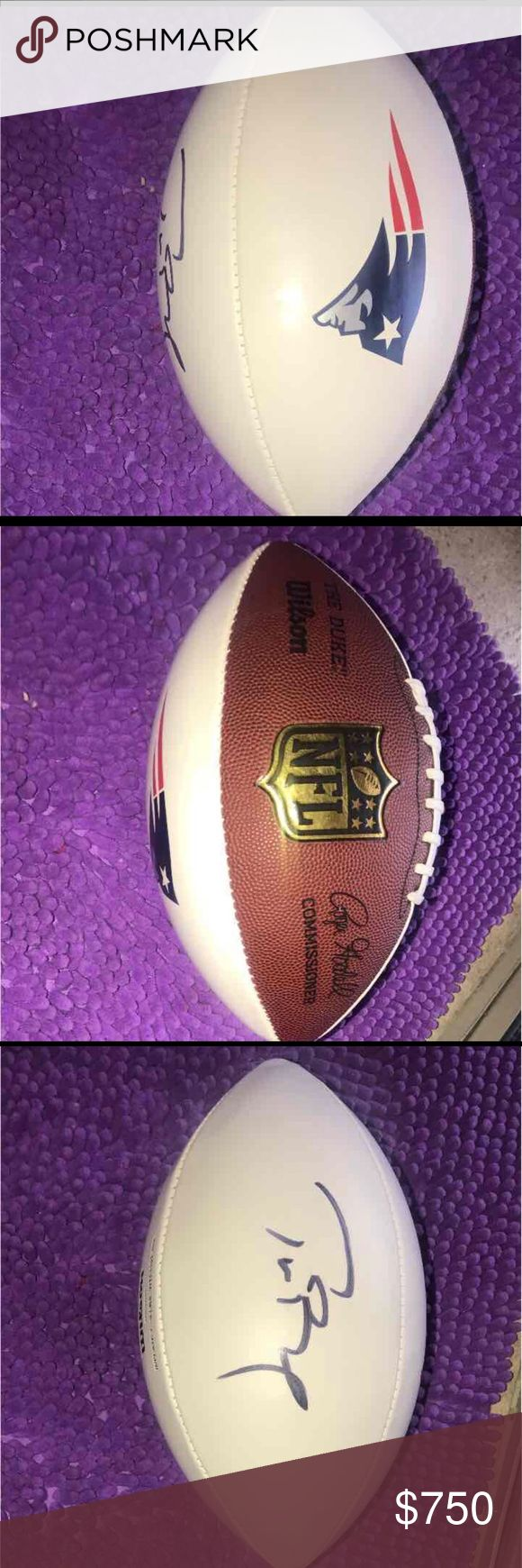Signed Tom Brady Football My brother was apart of the Best Buddies event ran by Tom brady in 2016 . He was kind enough to give my family and I a signed football after taking photos with us . Although it was a near opportunity I have no use for the football and am saving for a car :). Other