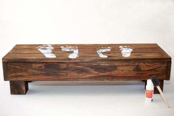 """Double Wide Step Stool - 30"""" Reclaimed Wood, Made for 2 Children, Rustic kids bench Seat, Great for potty, bathroom, kitchen"""