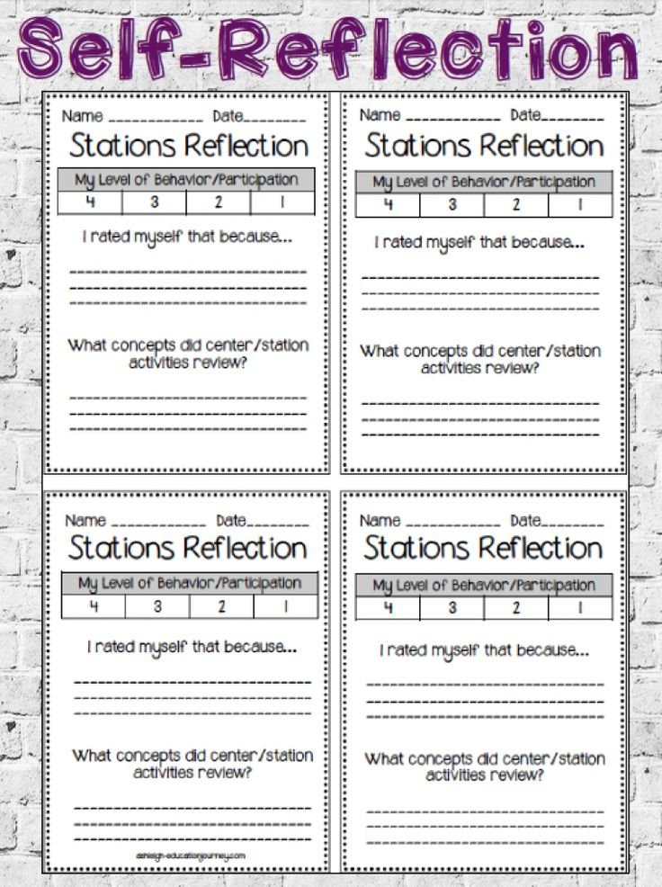 13 best Student Reflection images on Pinterest Student learning - employee self evaluation forms