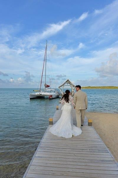Going Down The Jetty To Enjoy A 2 Hour Sunset Wedding Cruise With Catamaran Cruises Mauritius