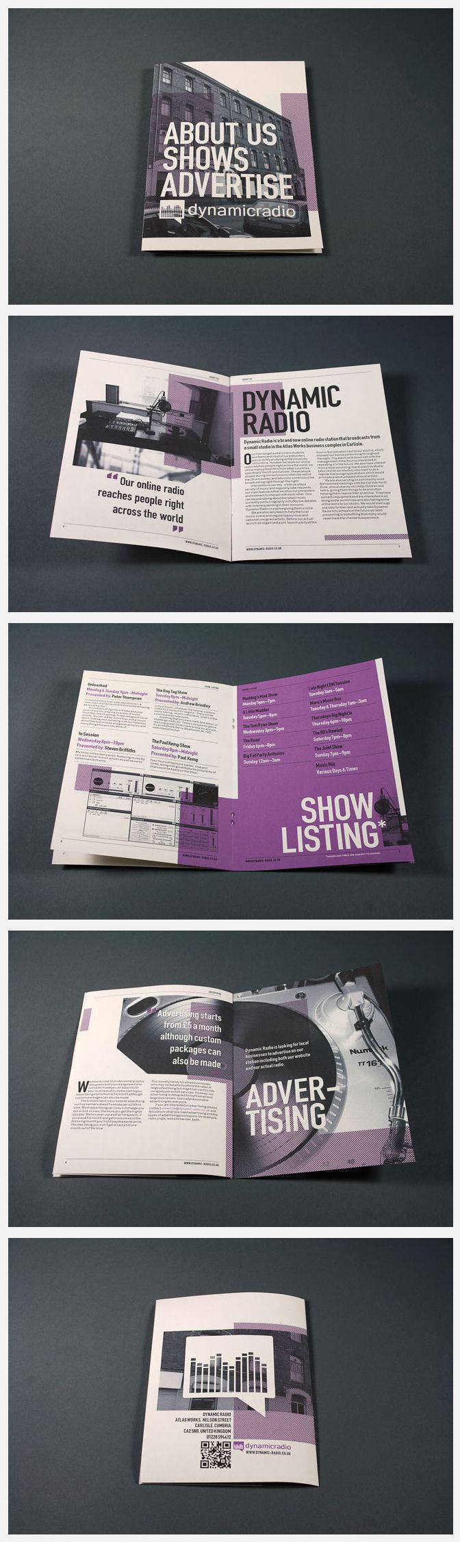 Print Design: Dynamic Radio Advertising Booklet #layout #publication #booklet                                                                                                                                                     More