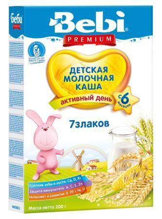 Bebi молочная 7 злаков 200 г  — 128р. -------------------------- Каша молочная 7 злаков Беби Премиум от 6 месяцев