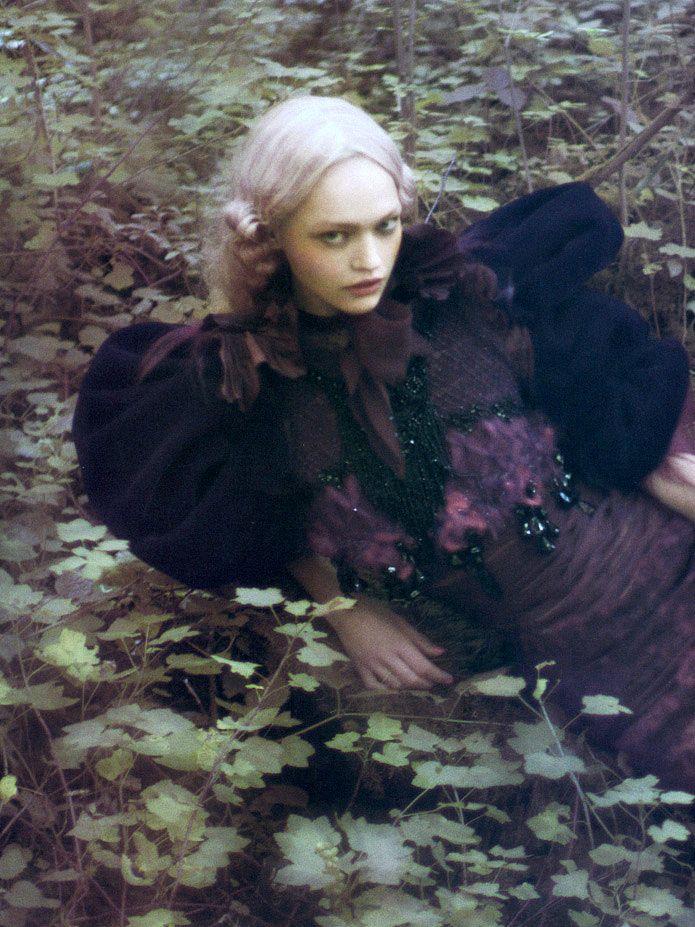 Sasha Pivovarova photographed byPaolo Roversi for Vogue Italia September 2007