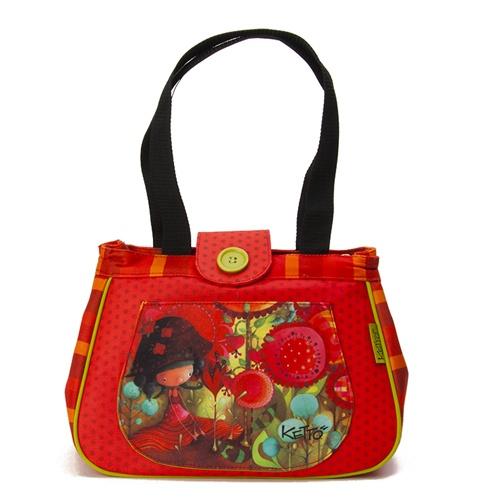 Sac à lunch Ketto , style sac à main- Jungle de fleurs / Ketto's round bag, sac à main - Jungle of flowers *Fabriqué à 80% de bouteilles de plastique recyclées / Made of 80% of recycled plastic bottles* www.kettodesign.com