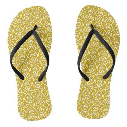 Retro-classical design in gold flip flops - retro clothing outfits vintage style custom