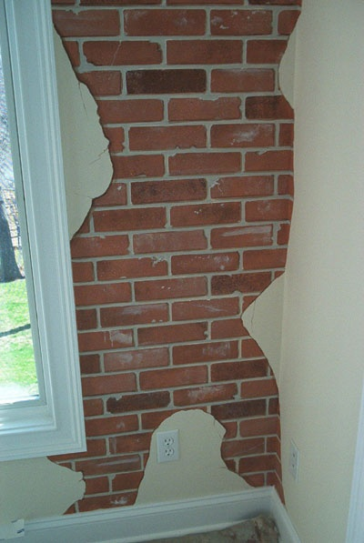 Charming Trompe Lu0027Oeil Brick Wall. Iu0027m Thinking About Doing This In My