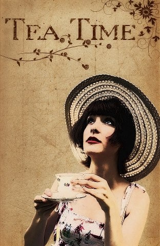 This reminded me of what we had all been talking about for mckenahs shower. Vintage tea time... The hats!
