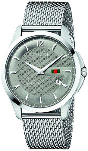 """Gucci Men's YA126301 """"Timeless"""" Anthracite Diamond Pattern Dress Watch Gucci http://www.amazon.com/dp/B008B0KC36/ref=cm_sw_r_pi_dp_oGF7tb0BK0RXE"""