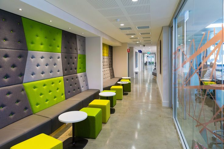 Booth seating & wall paneling @ Curtin Uni building 501 refurb project by Burgtec WA