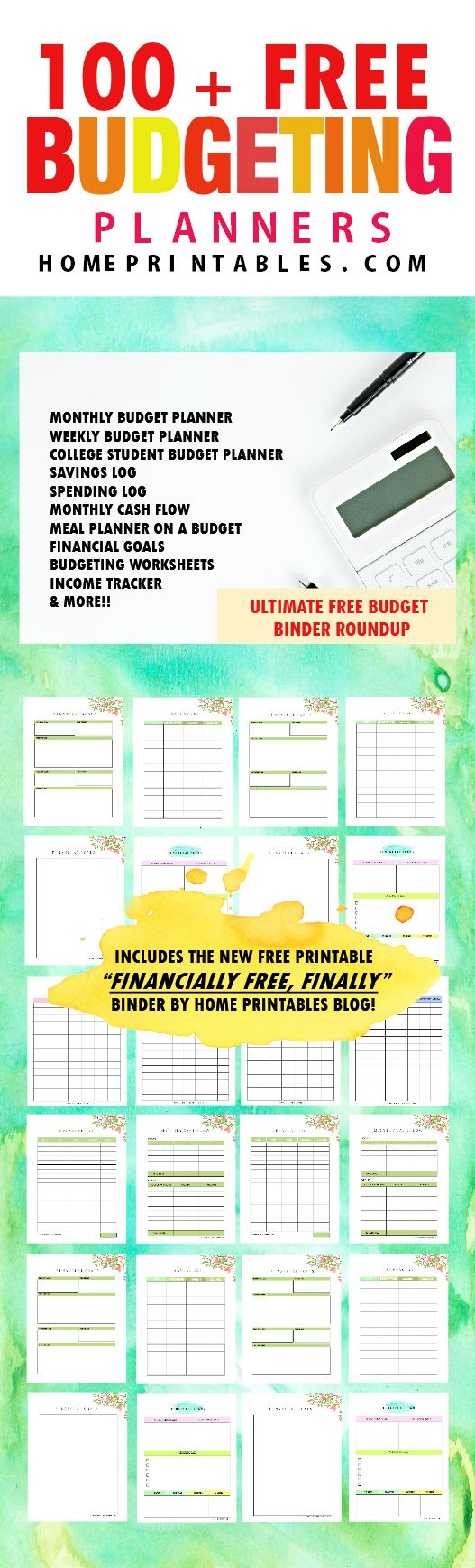 Here are over 100 free budgetting printables to help you organize your finances. Time to finally pick the free budget binder that works for you!