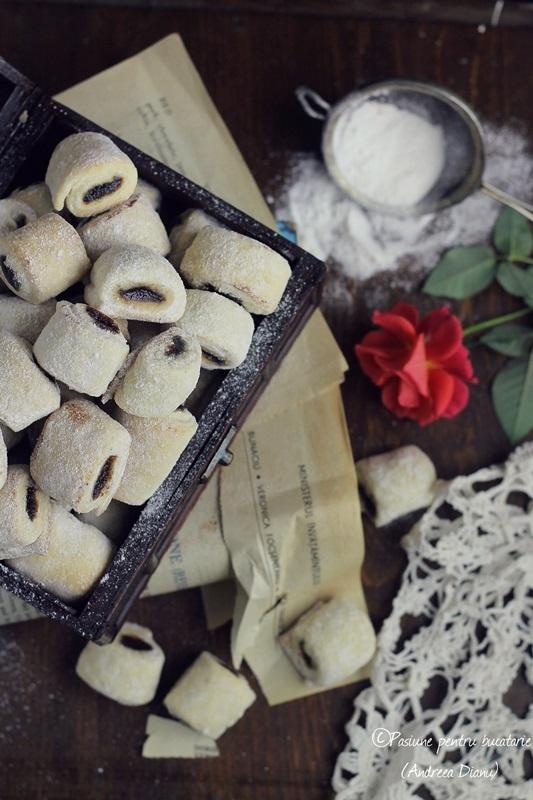 Cornulete fragede cu magiun de prune(de post) | Pasiune pentru bucatarie