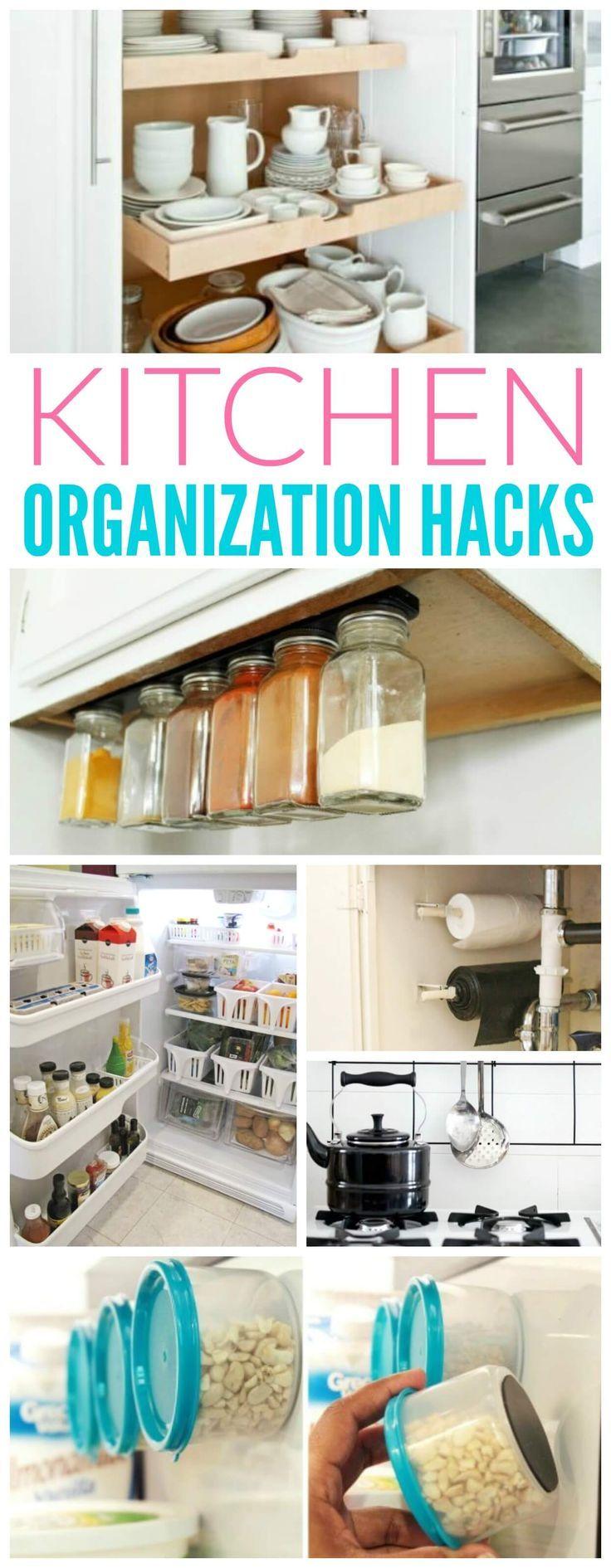 best 25+ kitchen organization hacks ideas on pinterest | kitchen