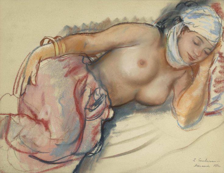 Zinaida Serebriakova - Reclining nude (1932) #2