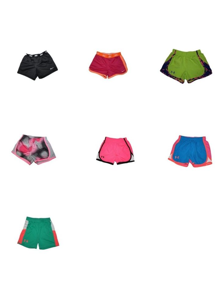 Girl Lot 7pr Under Armour Nike Athletic Running Dri Fit Pink Shorts Size 6 6X XS #UnderArmourNike #Everyday