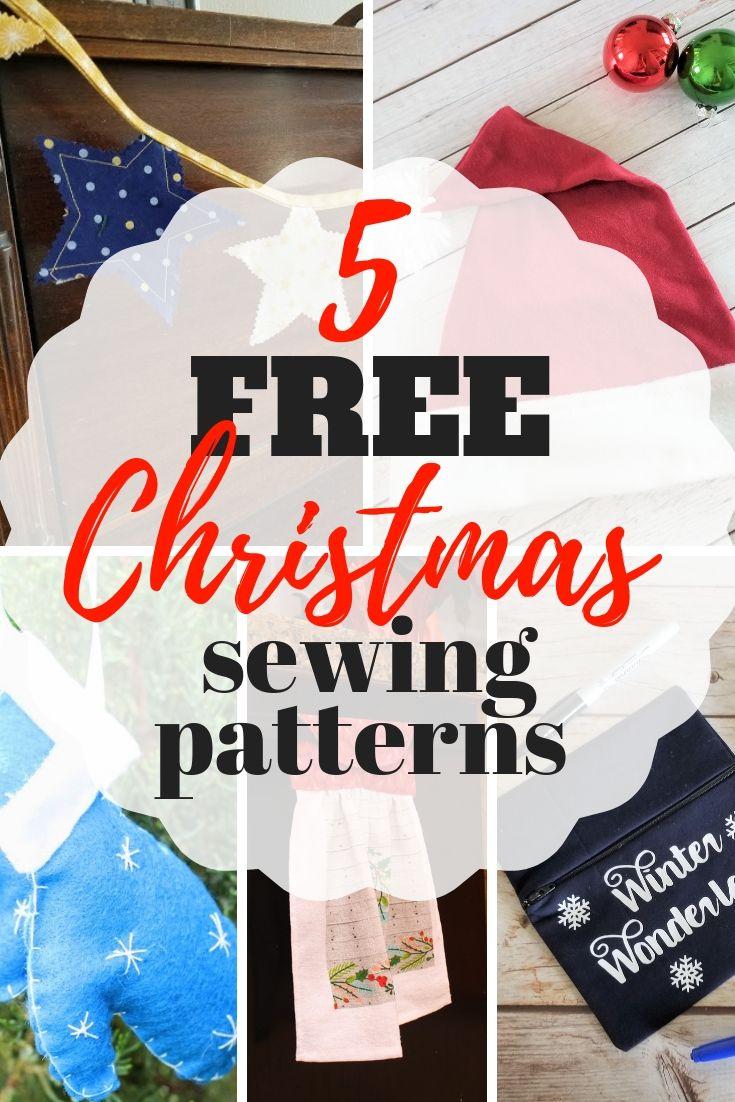 image about Free Printable Christmas Sewing Patterns named 5 Totally free Printable Xmas Sewing Types Xmas