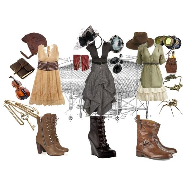 i love the dress and shoe combos, the aviator hat in the top left is adorable and i would wear it until it fell apart lol