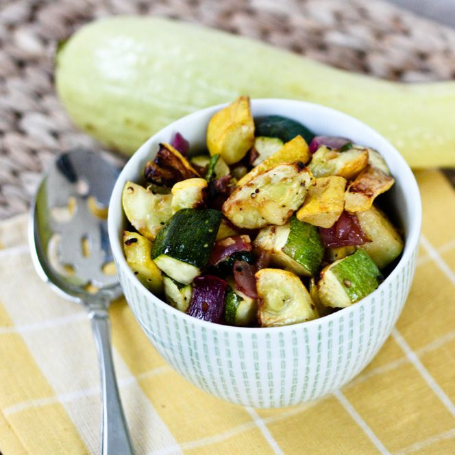 Roasted Summer Squash and Zucchini Recipe via @fitsugar