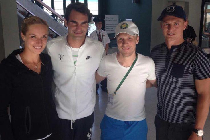 Roger Federer trifft Toni Kroos, Sabine Lisicki und Oliver Pocher  Drei Champions und ein Clown . Wimbledon July 4, 2015