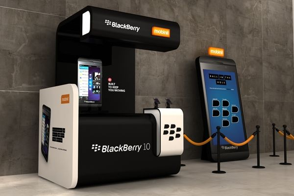 Black Berry 10 launch stand on Behance