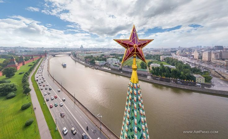 Grand tour of Moscow, Russia • 360° Aerial Panorama