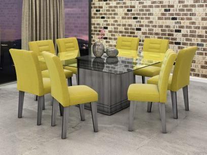 Conjunto de Mesa 8 Cadeiras Movale - Vegas com as melhores condições você encontra no Magazine 123claudia. Confira!
