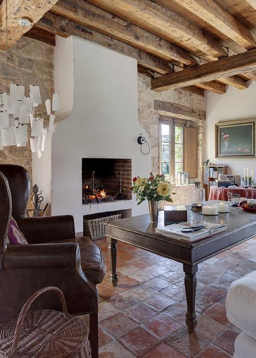 328 mejores im genes sobre fireplace chimeneas en - Revestir una chimenea ...