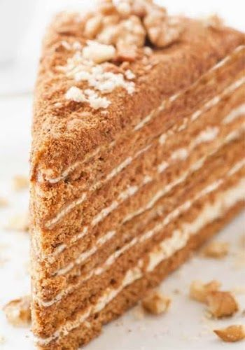 Traditional Medovic or Russian Honey Cake..., ,