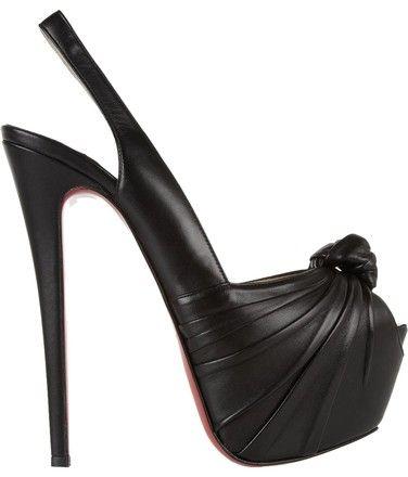 3a8337c1119 Christian Louboutin Black Miss Benin 160mm Platform Peep Toe Heels A764 Pumps  Size EU 40.5 (Approx. US 10.5) Regular (M