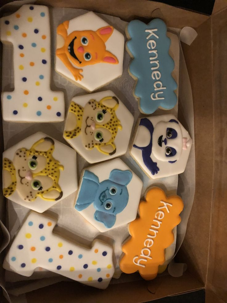 Word Party cookies by Amber Pleiman | Birthday theme