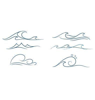 Tatto Ideas 2017 – Einfache Wellen Vektor auf VectorStock gesetzt