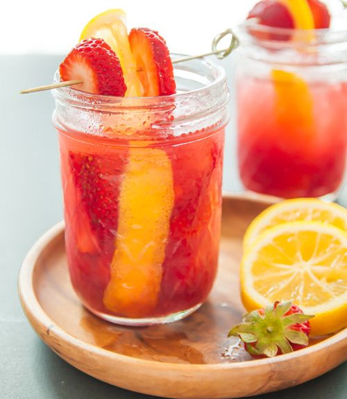 Strawberry jam is the star of this sweet cocktail.