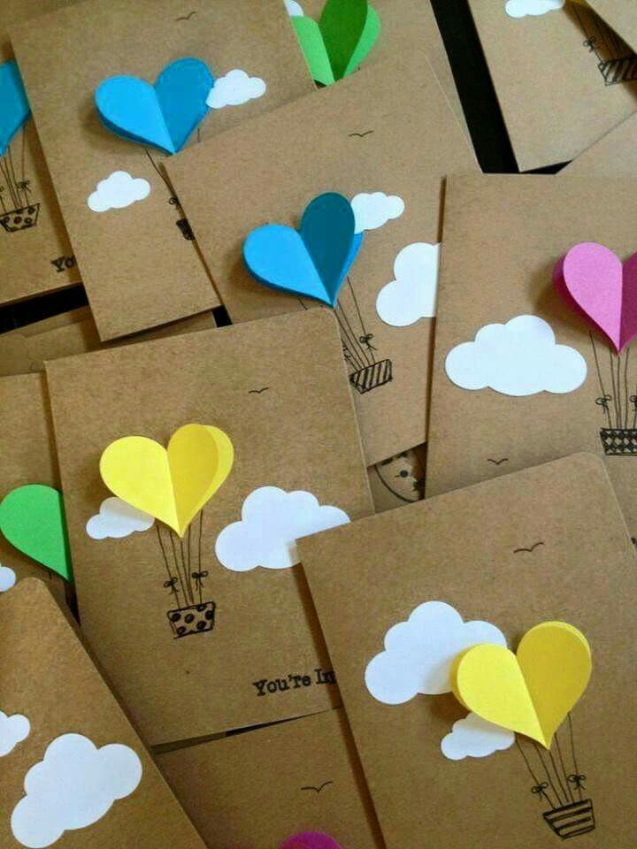 Postales hechas a mano para  San Valentin                              …