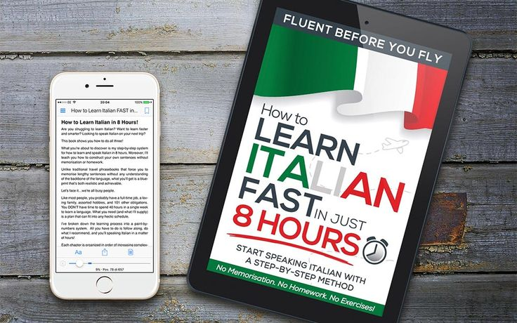 Learn Italian quick, easy, and simple! Follow the Step-by-Step method to learn Italian FAST in Just 8 Hours!. No Memorisation. No Homework. No Exercises.