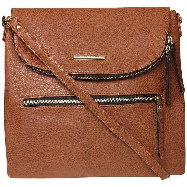 Dorothy Perkins Tan Foldover Crossbody Bag ($44) ❤ liked on Polyvore featuring bags, handbags, shoulder bags, brown, brown crossbody, foldover crossbody, crossbody handbag, tan handbags and brown crossbody purse