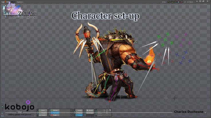 """This video focus on the character """"Dagmar"""" and shows how works the puppet on Spine and all his animations for the game.  See more on http://charles-duchesne.blogspot.co.uk/"""