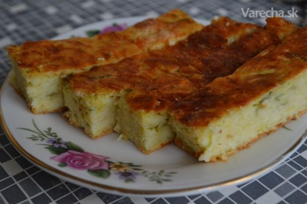 Cuketový koláč slaný - Recept