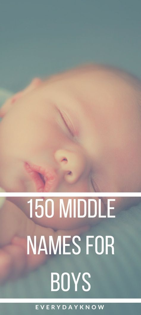 150 Middle Names for Boys