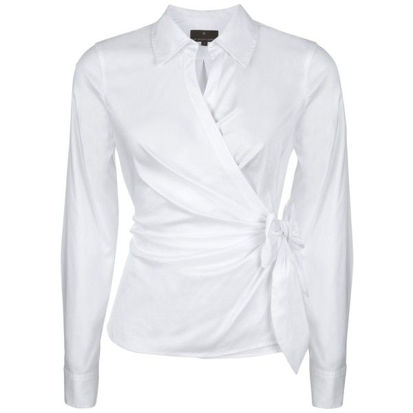 Womens White Wrap Blouse 88
