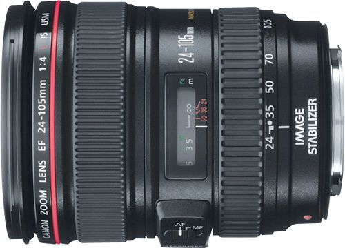 Canon - EF 24-105mm f/4L IS USM Standard Zoom Lens - Black